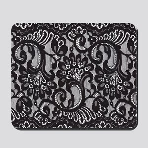 Black Lace Mousepad